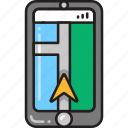 app, direction, gps, map, maps, navigation, navigator icon