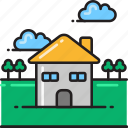 building, estate, home, house, household, property, real icon
