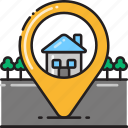 destination, home icon