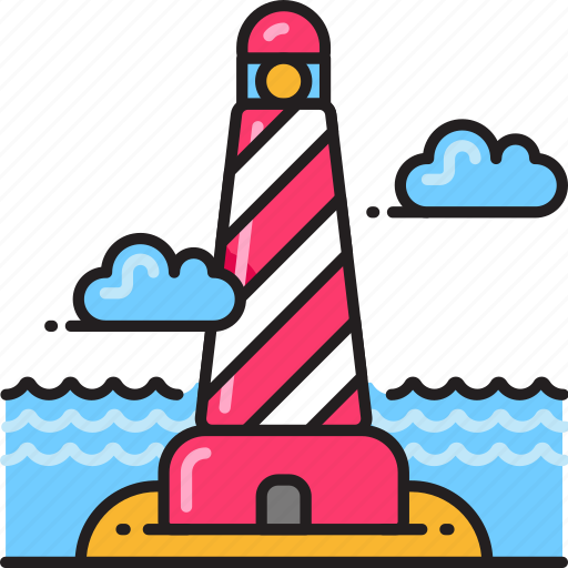 light, lighthouse, tower icon