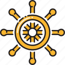 nautical, ship, steering, wheel icon