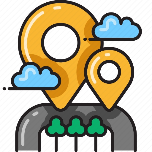 destinations, direction, gps, marker, navigation, nearby, pointer icon