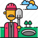 construction, pothole, progress, repair, roadwork, roadworks, worker icon