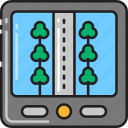 gps, lane, map, navigation, road, route, street icon