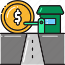 counter, highway, payment, road, station, toll icon
