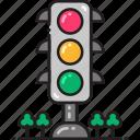 lamp, light, road, sign, traffic icon