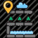direction, gravel, map, marker, navigation, road, unsealed icon
