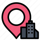 building, hotel, location icon