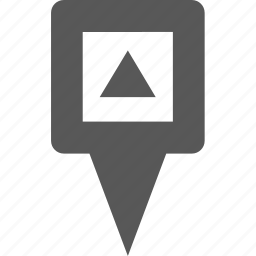 arrow, location, marker, pin, place, point, pointer icon