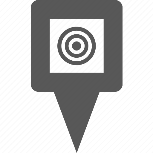 circle, marker, pin, place, places, point, target icon