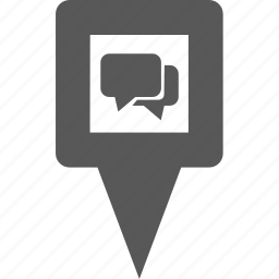 chat, communication, location, marker, pin, place, point icon