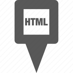code, html, location, marker, pin, pointer, position icon