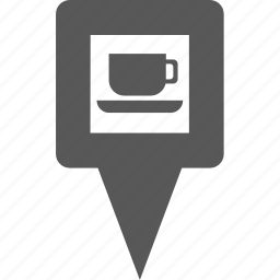 coffee, cup, location, marker, pin, place, tea icon