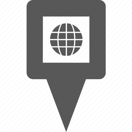 globe, location, marker, pin, place, pointer, world icon