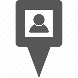 location, man, person, pin, place, point, user icon