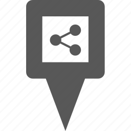 link, location, marker, pin, place, point, share icon