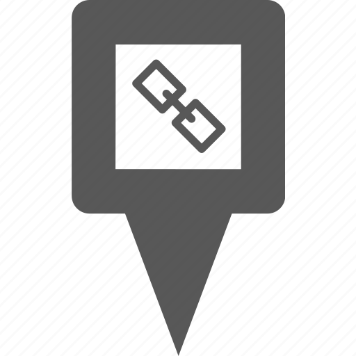chain, hyperlink, link, location, marker, pin, place icon