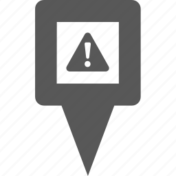 alert, danger, error, location, pin, place, warning icon