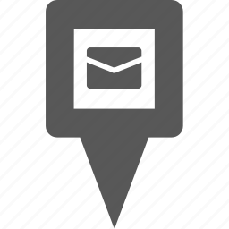 location, mail, marker, message, pin, place, pointer icon