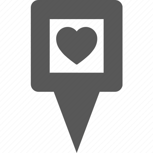 Favorite, heart, love, marker, pin, place, pointer icon - Download on Iconfinder