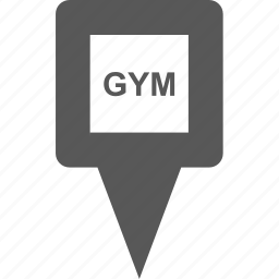exercise, location, marker, pin, place, pointer, sport icon