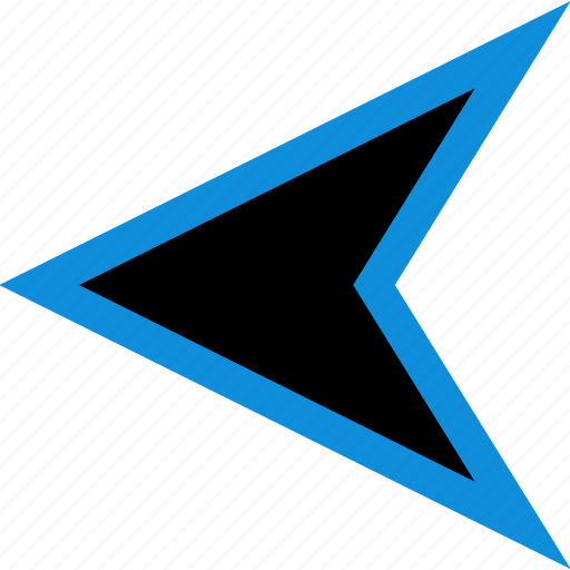 arrow, gps, left, pointer icon