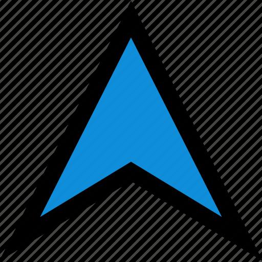 arrow, gps, pointer, up icon