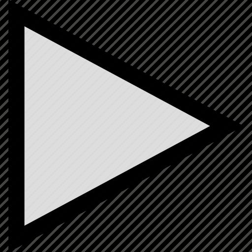 arrow, next, play, point icon