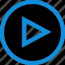 arrow, play, point, pointer icon