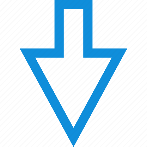 arrow, down, point, pointer icon