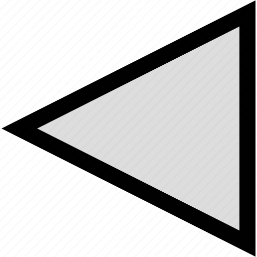 arrow, pointer, rewind icon