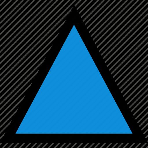 arrow, pointer, triangle, upload icon