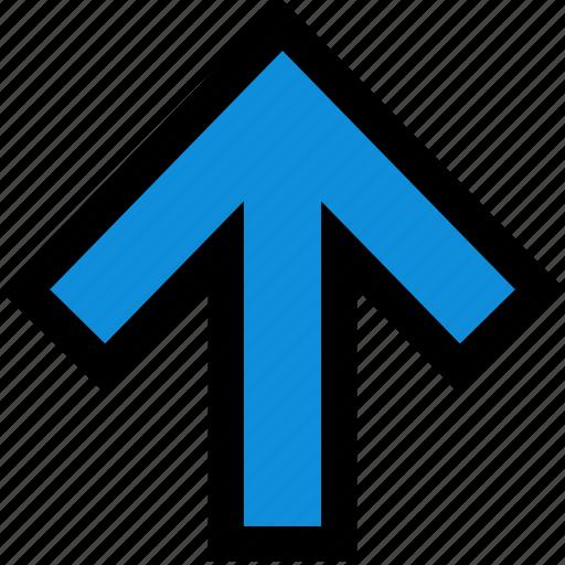arrow, go, point, up icon