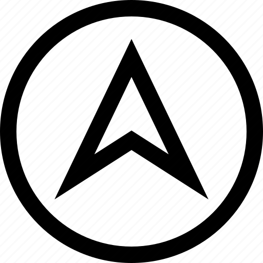 arrow, direction, pin icon