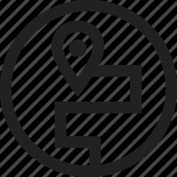 destiny, gps, navigate icon