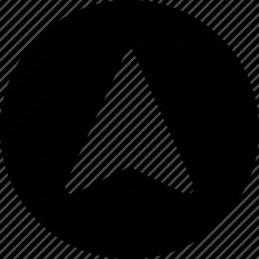 circle, navigation icon