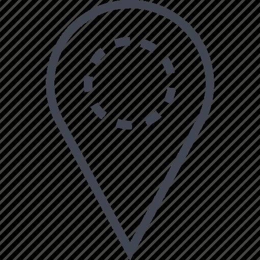 custom, gps, pin, point icon