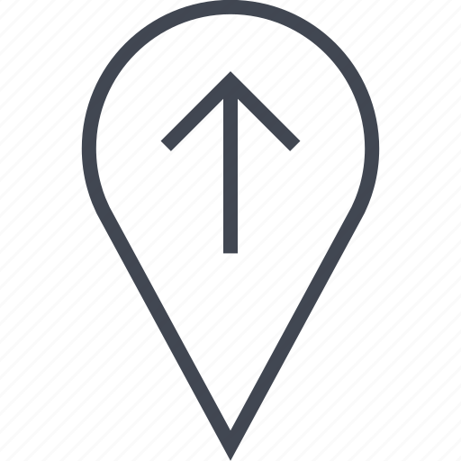arrow, pin, point, up icon