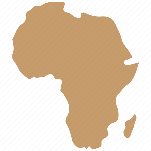africa, continent, image, map icon