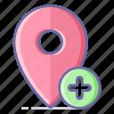 add, location, map, navigation, pin icon