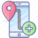 add, location, map, mobile, navigation, pin icon
