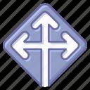 arrow, location, map, navigation, pin icon