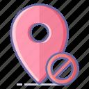 block, location, map, navigation, pin icon