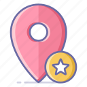 bookmark, location, map, navigation, pin icon