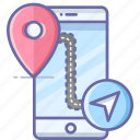 direction, location, map, mobile, navigation, pin icon