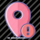 error, location, map, navigation, pin icon