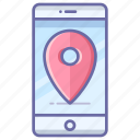 location, map, mobile, navigation, pin icon