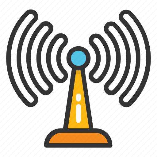 network tower, signal tower, wifi antenna, wifi hotspot tower, wifi tower icon