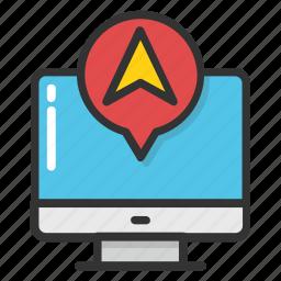 navigation app, navigation software, online gps, online map service, online navigation icon