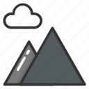 heights, hills, mountains, mounts, peaks icon